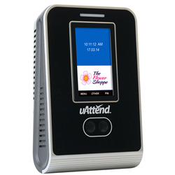 uAttend MN1000 facial recognition clocking in terminal